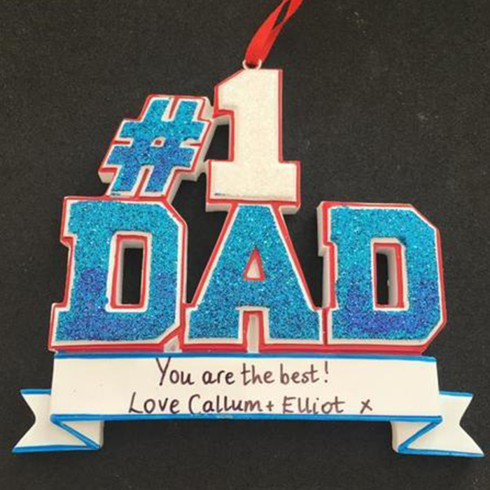 No 1 Dad Hanging Decoration