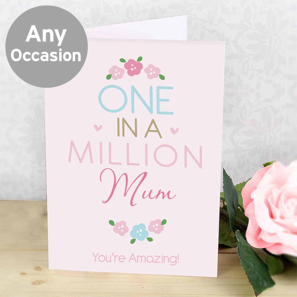 personalised one in a million card, ideal for any occasion.