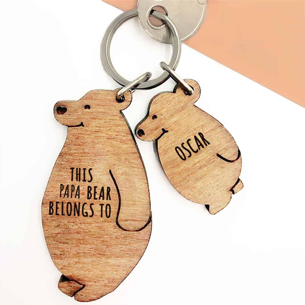 Papa Bear Keyring Set