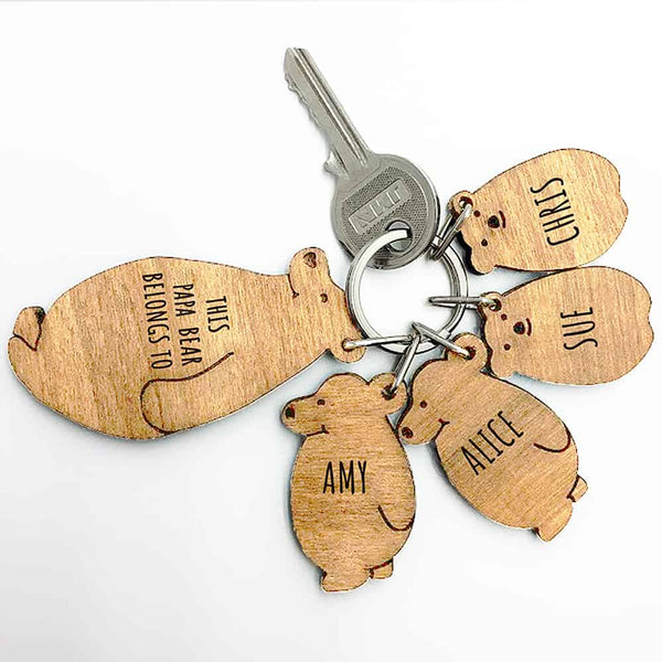 Papa Bear Keyring Set - CalEli Gifts