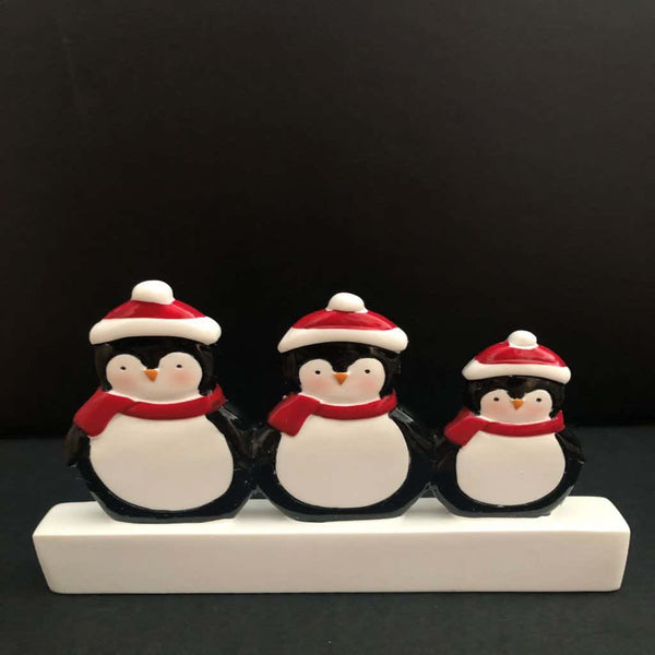 personalised penguin mantle