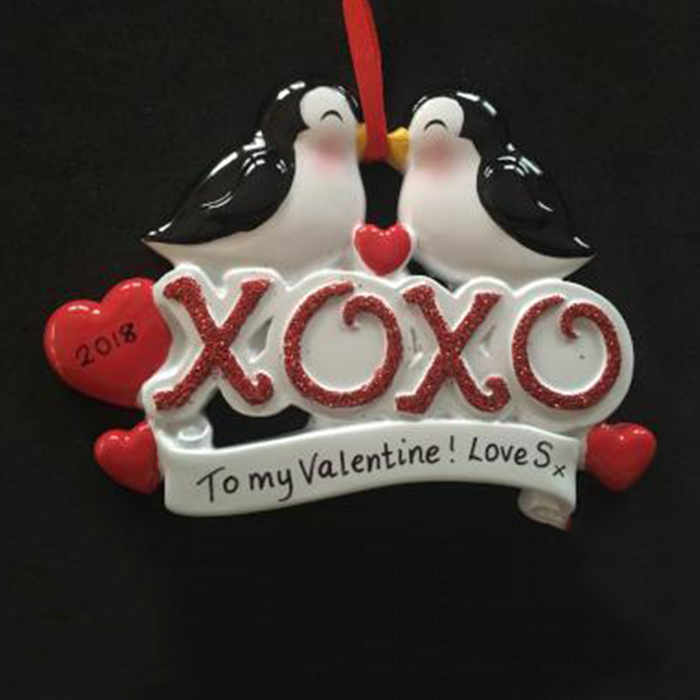 Penguins Kissing Decoration
