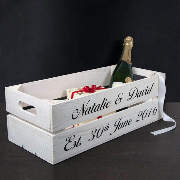 Personalised Wooden Crate - CalEli Gifts