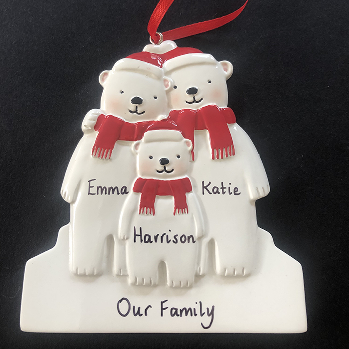 Polar Bear Family Tree Decoration