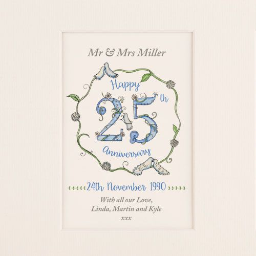 Silver Wedding Anniversary Picture - CalEli Gifts