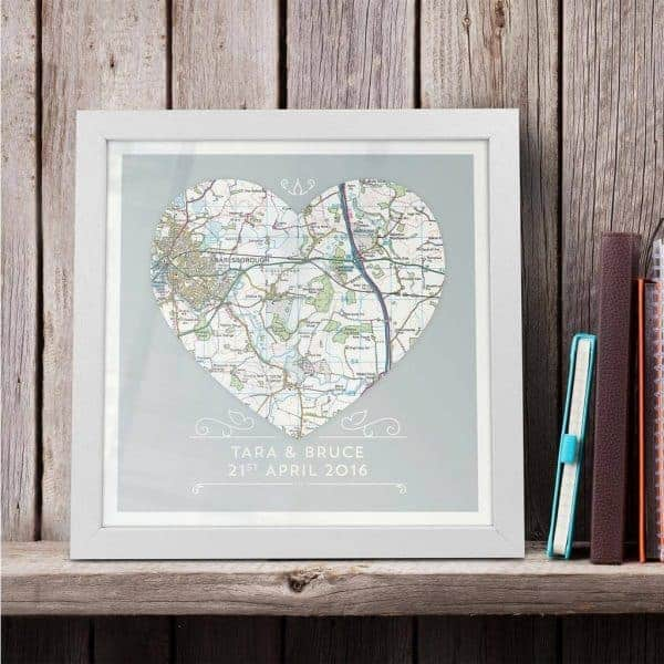 Heart Map Art
