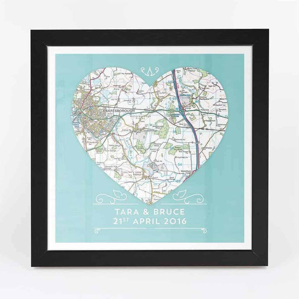 Heart Map Art - CalEli Gifts
