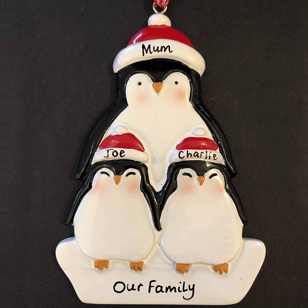 Single Parent Penguin Christmas Tree Decoration - CalEli Gifts