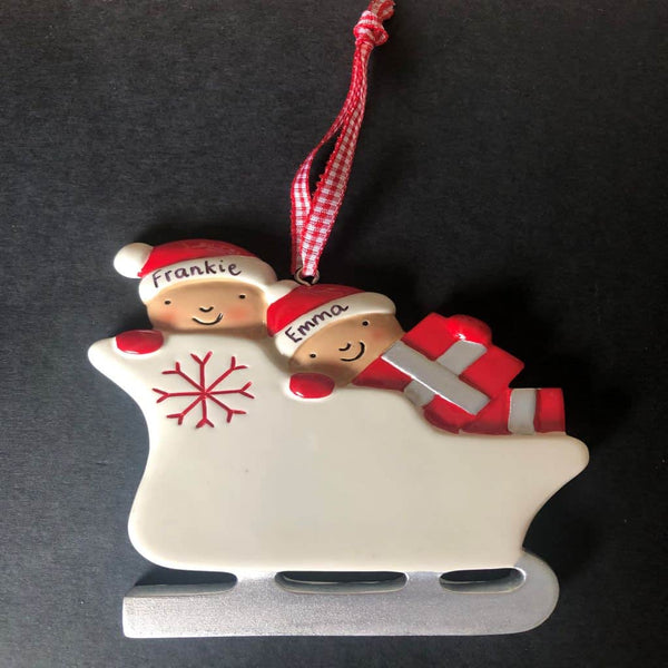 personalised sleigh decoration