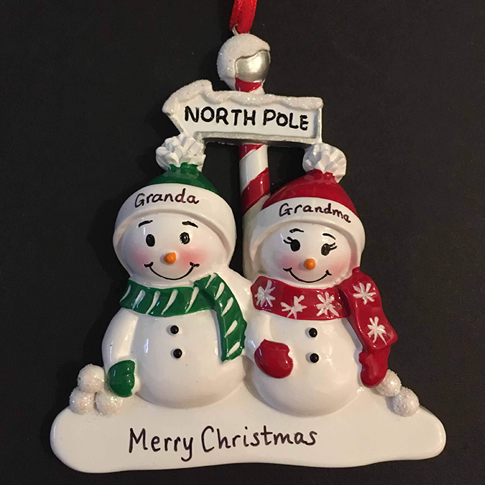 Snowmen Family Decoration 2-6 people