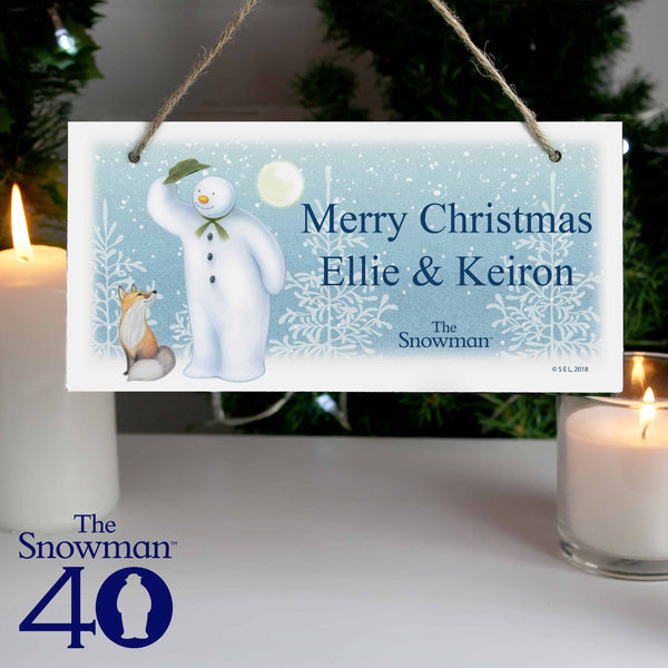 Snowman Wooden Sign - CalEli Gifts