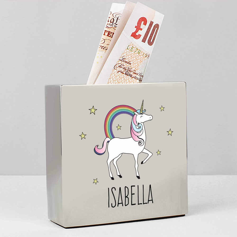 Square Unicorn Money Box