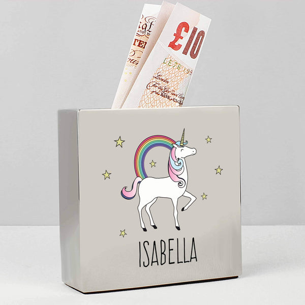 Square Unicorn Money Box - CalEli Gifts