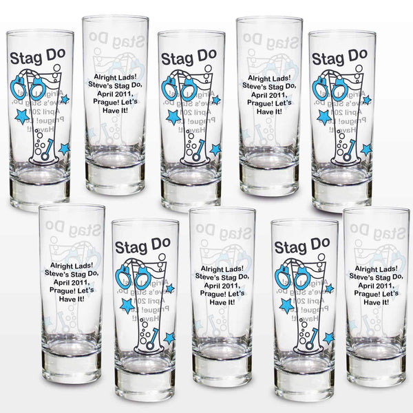 Stag Do Shot Glasses - CalEli Gifts