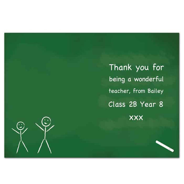 Thank You card for Teacher - CalEli Gifts