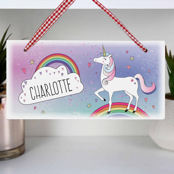 Unicorn Wooden Sign - CalEli Gifts