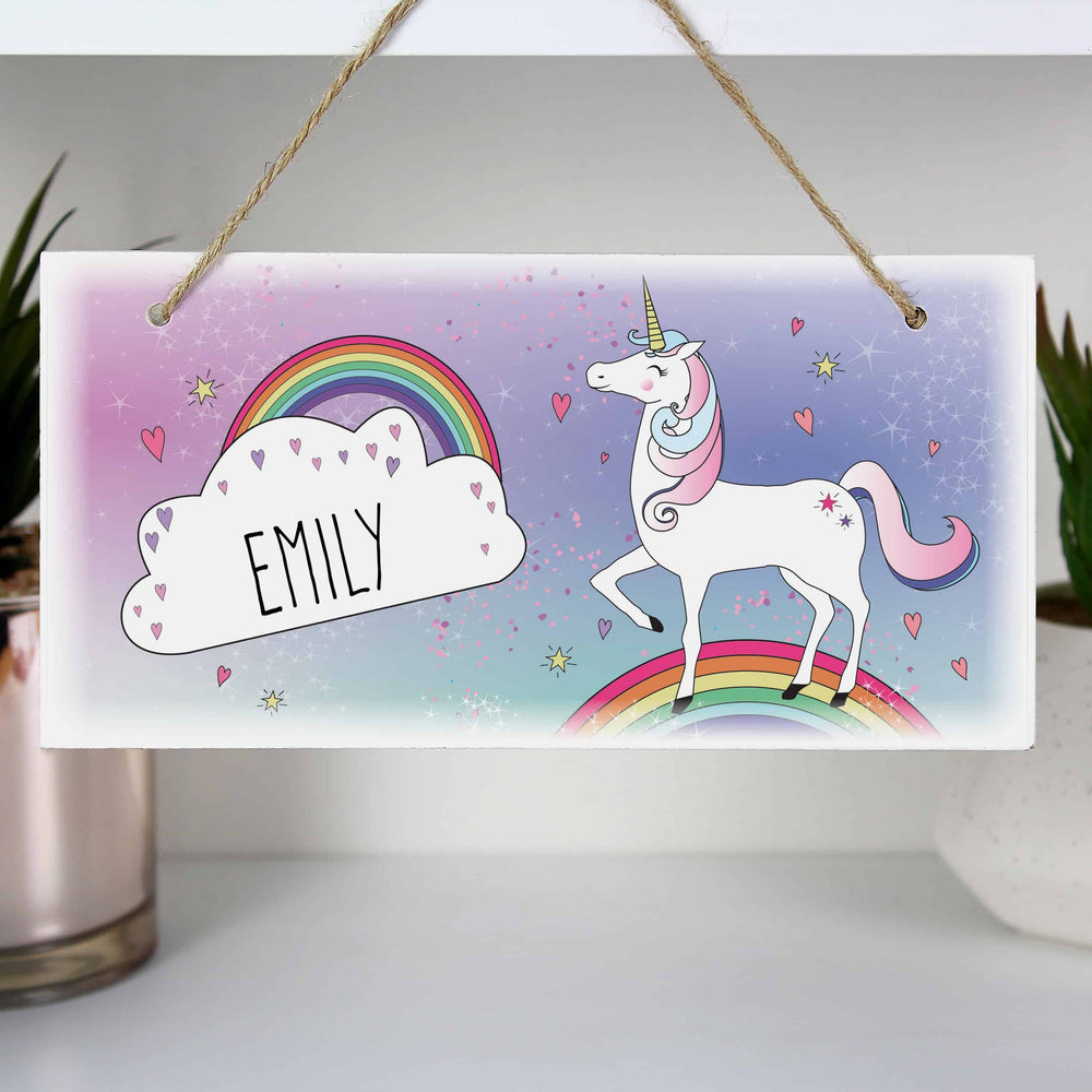 Unicorn Wooden Sign