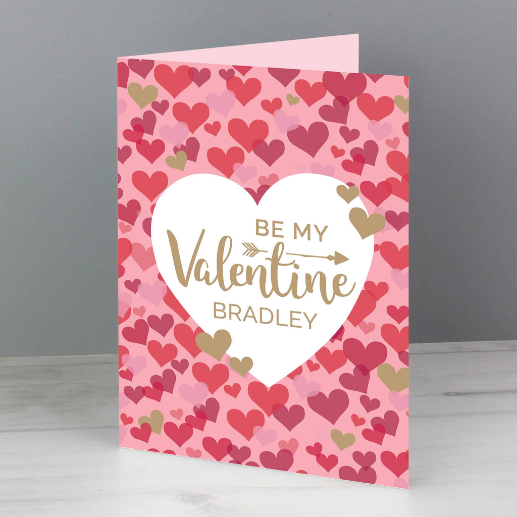personalised heart confetti valentine's day card