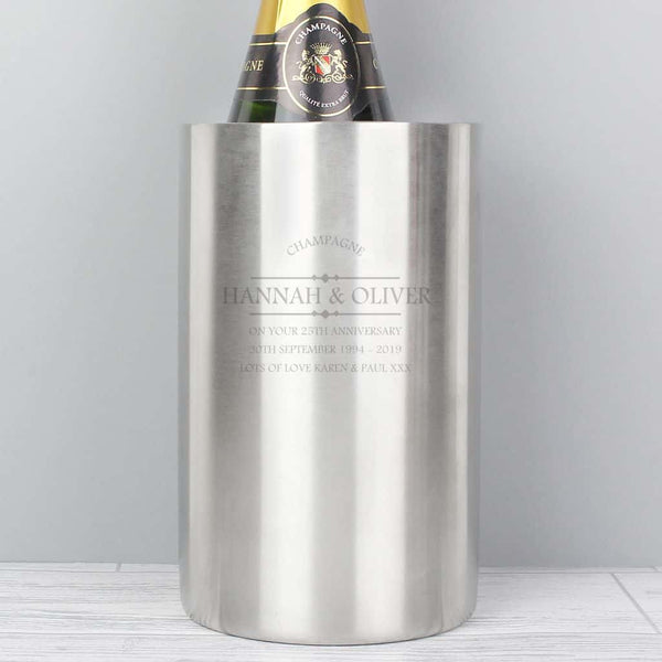 engraved wine cooler