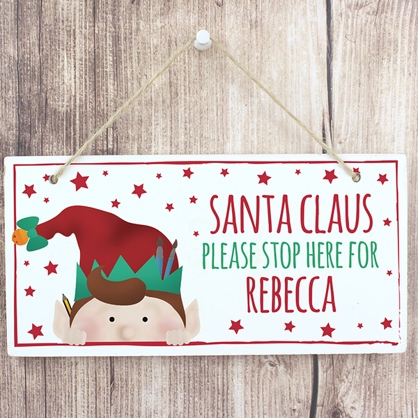 Christmas Elf Wooden Sign - CalEli Gifts