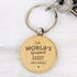 'The World's Greatest' Wooden Keyring - CalEli Gifts
