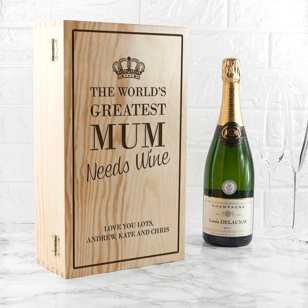 World's Greatest Mum Wine Box