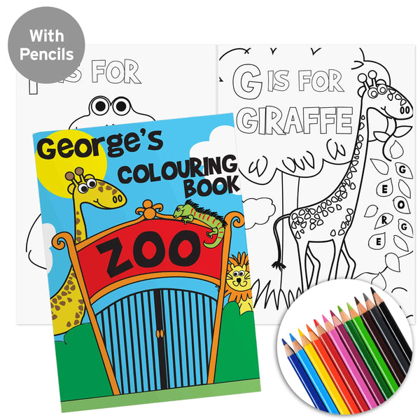 Zoo Colouring Book with Pencils - CalEli Gifts