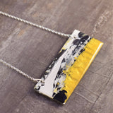Abstract bar necklace