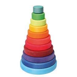 Grimm's Large Conical Tower, 11 pieces | Toys Tribe Pte Ltd
