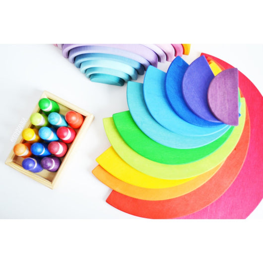 ToysTribe - Grimm's Large Rainbow Semicircles, 11 pieces
