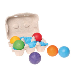 ToysTribe - Grimm's Rainbow Wooden Balls, 6 pieces