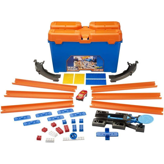 ToysTribe - For Rent: Hot Wheels Track Builder Stunt Box, 35 pieces