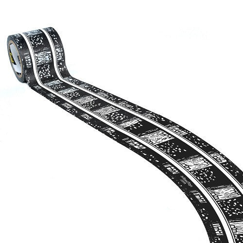 ToysTribe - Inroad Playtape Classic Rail 2-inch Broad Curves, 2 pieces