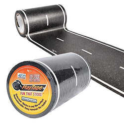 ToysTribe - Inroad Playtape Classic Black Road (4 inch x 30 feet)