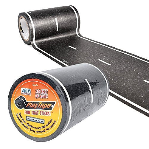 ToysTribe - Inroad Playtape Classic Road (4 inch x 30 feet) - Black