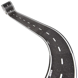 ToysTribe - Inroad Playtape Classic Road 2-inch Broad Curves (Black), 4 pieces