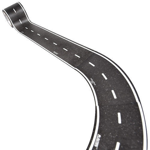 ToysTribe - Inroad Playtape Classic Road 2-inch Broad Curves (4 pc) - Black