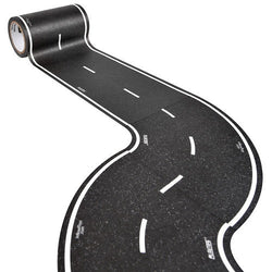 ToysTribe - Inroad Playtape Classic Road 4-inch Tight Curves (Black), 2 pieces