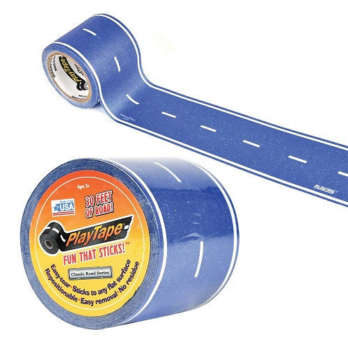 ToysTribe - Inroad Playtape Classic Blue Road (2 inch x 30 feet)
