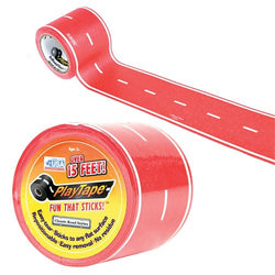 ToysTribe - Inroad Playtape Classic Road (2 inch x 30 feet) - Red