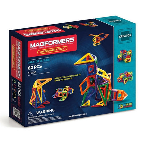Used Set for Sale: Magformers Designer Set, 62 pieces | Toys Tribe Pte Ltd