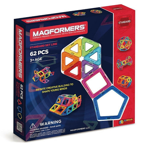 ToysTribe - Magformers Classic Set, 62 pieces