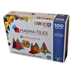 Magna-Tiles Clear Colours Set, 100 pieces | Toys Tribe Pte Ltd