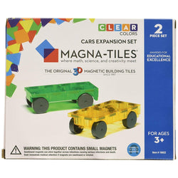 Magna-Tiles Cars Expansion Set, 2 pieces | Toys Tribe Pte Ltd