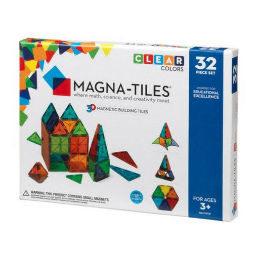 ToysTribe - Magna-Tiles Clear Colours Set, 32 pieces