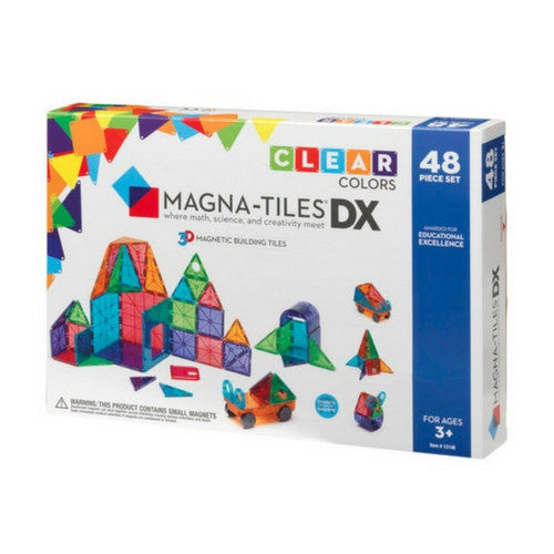 ToysTribe - For Rent: Magna-Tiles Clear Colours Deluxe Set, 48 pieces