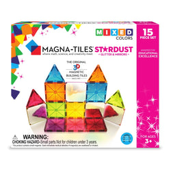 ToysTribe - Magna-Tiles Stardust, 15 pieces