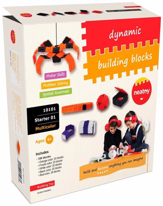 For Rent: Neatoy Dynamic Building Blocks (UPSIZE), 200 pieces | Toys Tribe Pte Ltd