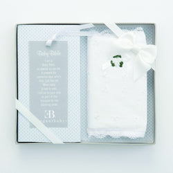 Eyelet Covered Baby Bible