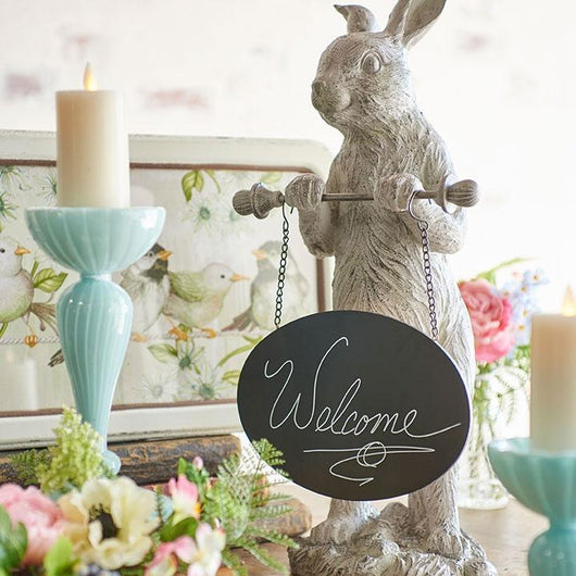 Bunny with Chalkboard